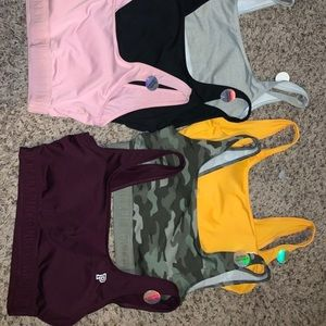 Unused Pink sports bras